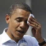 Barack Obama sweating