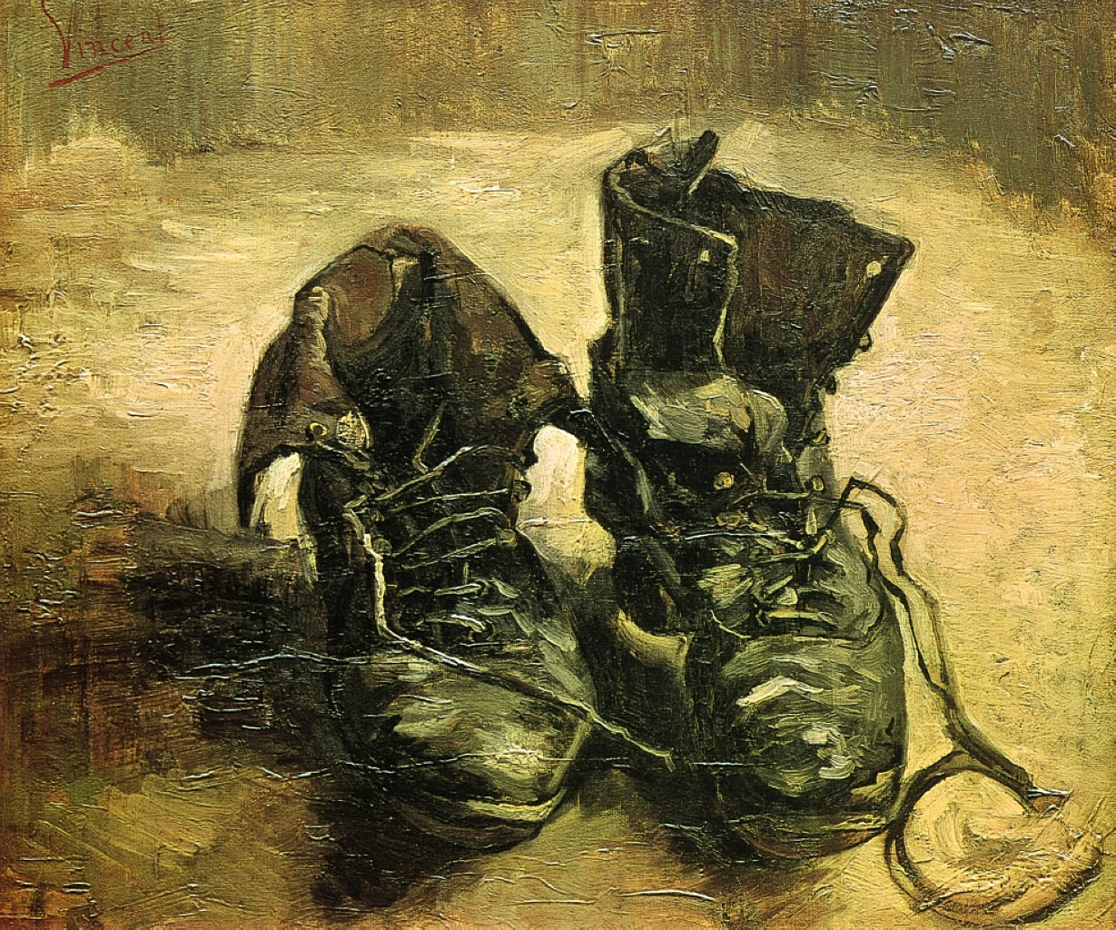 A Pair of Shoes, Vincent Van Gogh 1886